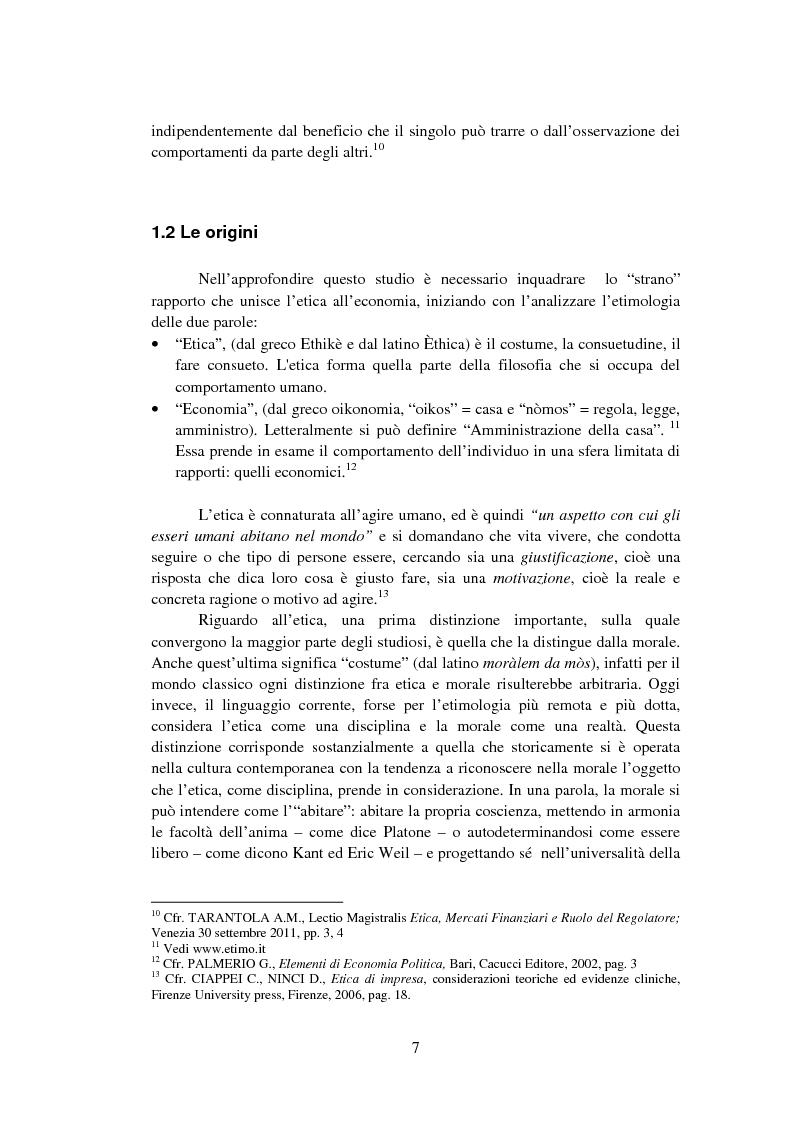 Anteprima della tesi: La Finanza Etica. Il Caso Etica Sgr e il Rating Etico: Sabaf S.P.A., Pagina 8
