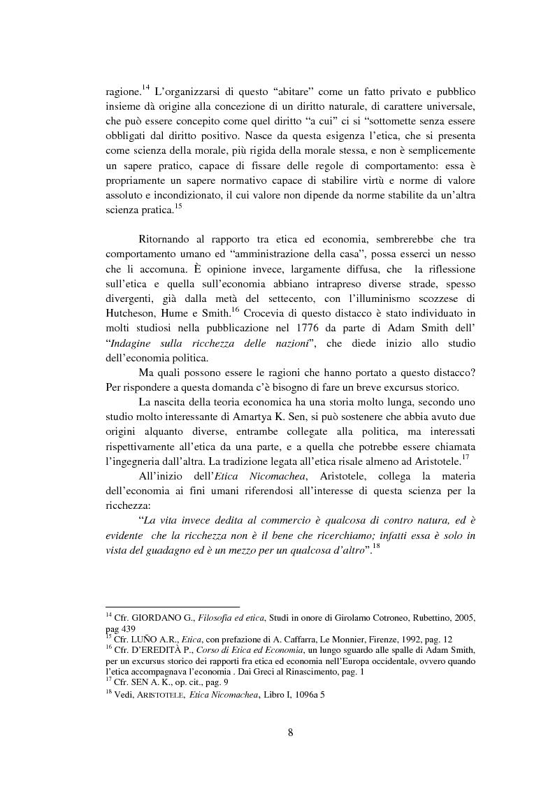 Anteprima della tesi: La Finanza Etica. Il Caso Etica Sgr e il Rating Etico: Sabaf S.P.A., Pagina 9