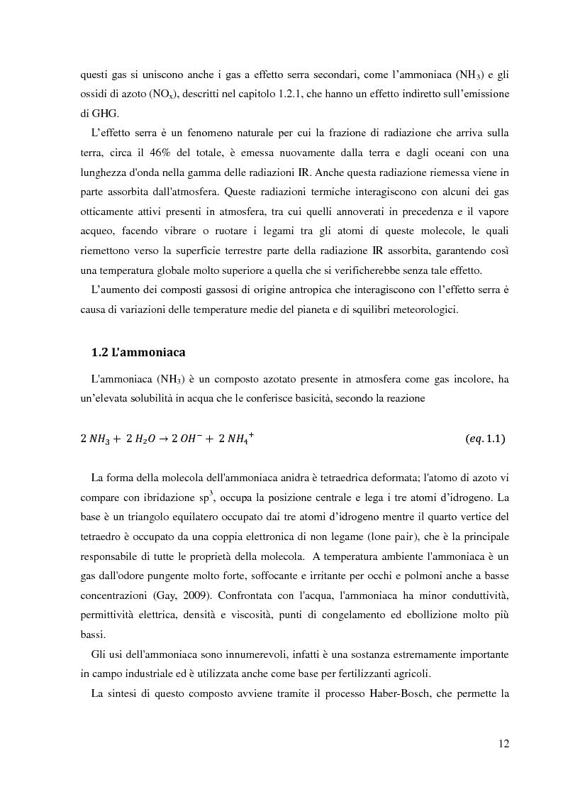 Anteprima della tesi: Emissioni di NH3 a seguito della distribuzione di liquame: valutazione delle strategie di mitigazione, Pagina 9