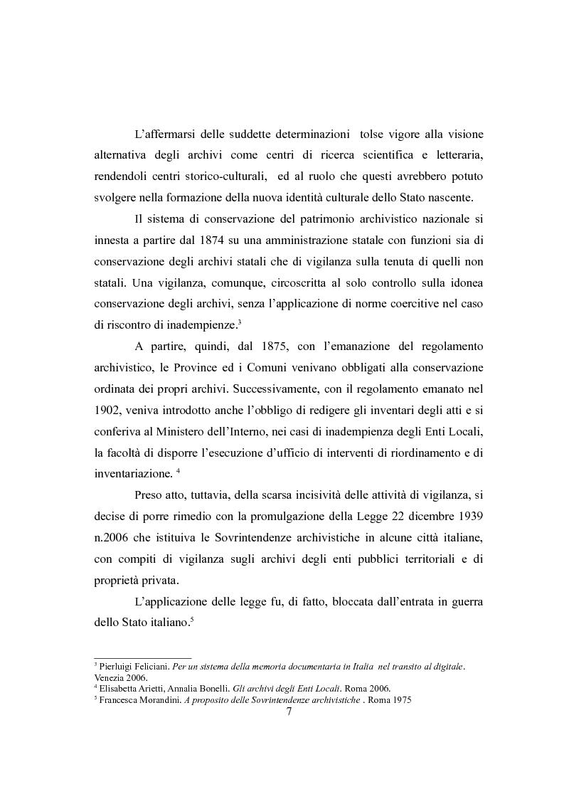 Anteprima della tesi: L'Archivio Scolastico. Un caso particolare: la Scuola Media Statale ''Michele Cipolla'', Pagina 4