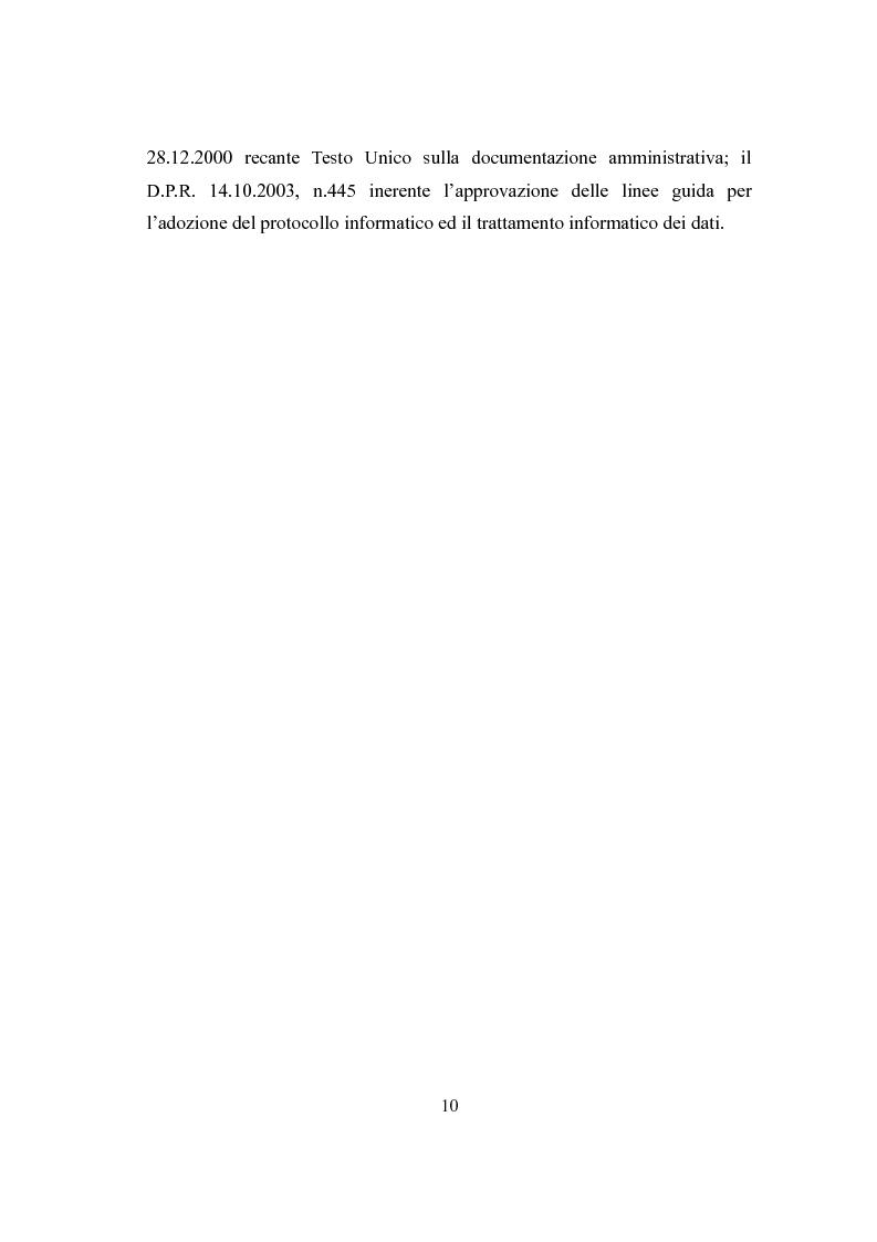 Anteprima della tesi: L'Archivio Scolastico. Un caso particolare: la Scuola Media Statale ''Michele Cipolla'', Pagina 7