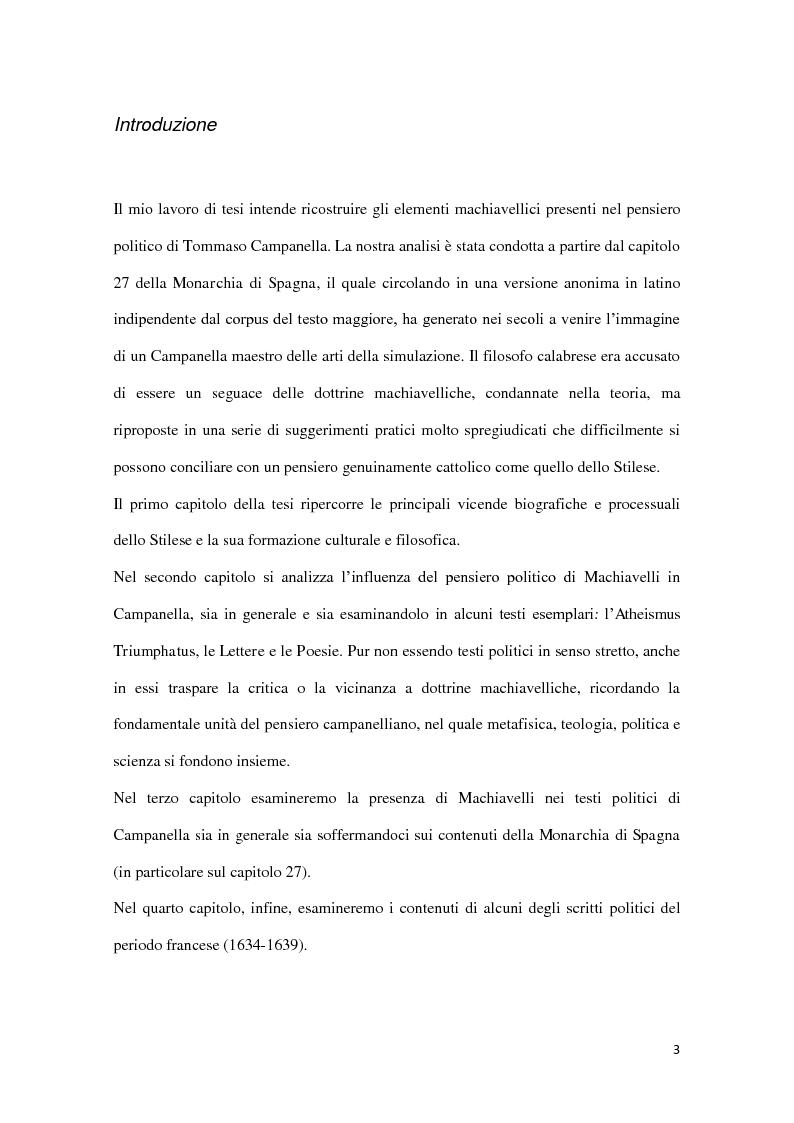 Anteprima della tesi: Machiavellismo e antimachiavellismo nel pensiero di Campanella, Pagina 2