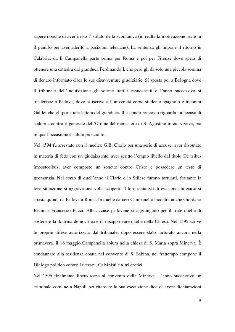Anteprima della tesi: Machiavellismo e antimachiavellismo nel pensiero di Campanella, Pagina 4