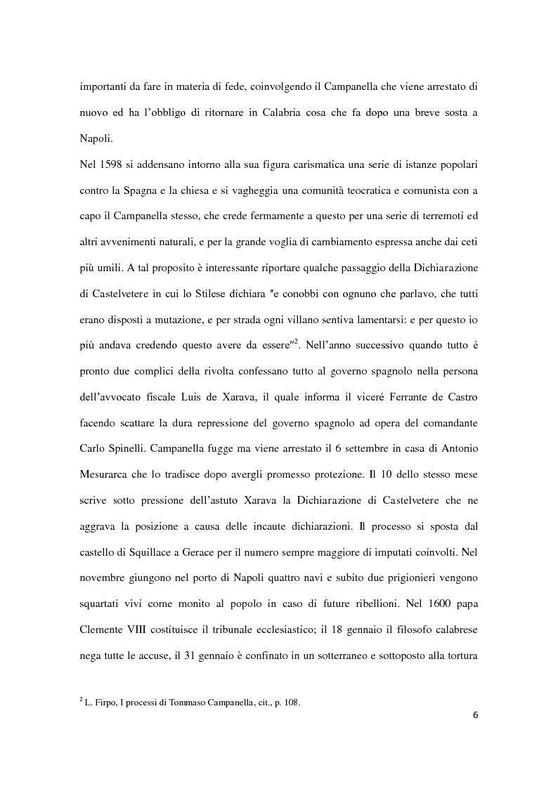 Anteprima della tesi: Machiavellismo e antimachiavellismo nel pensiero di Campanella, Pagina 5