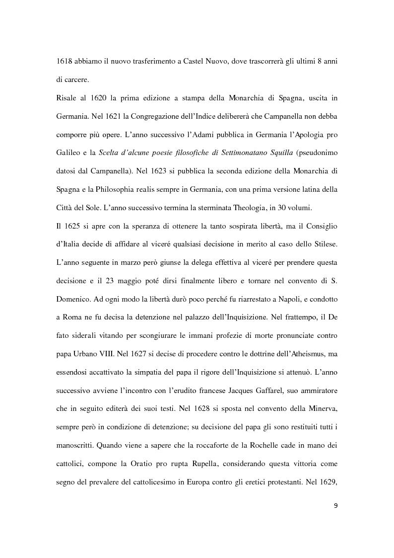 Anteprima della tesi: Machiavellismo e antimachiavellismo nel pensiero di Campanella, Pagina 8