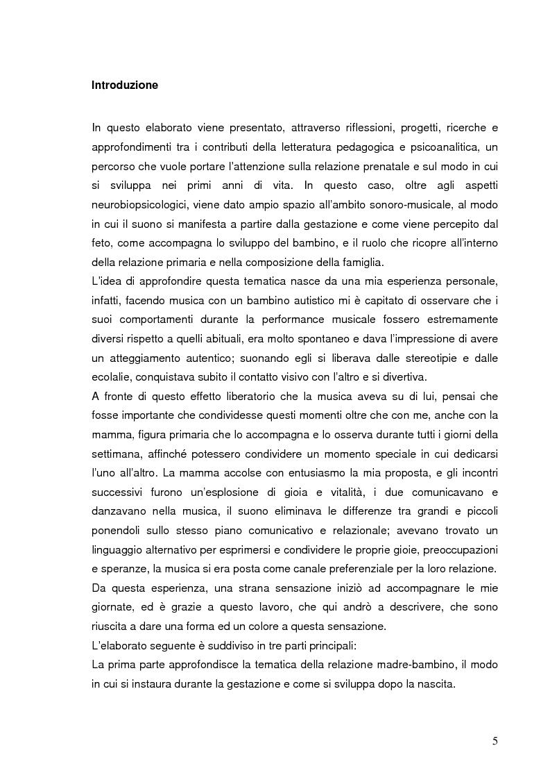 Anteprima della tesi: La relazione prenatale e il suo universo musicale, Pagina 2