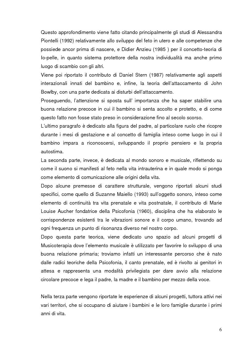 Anteprima della tesi: La relazione prenatale e il suo universo musicale, Pagina 3