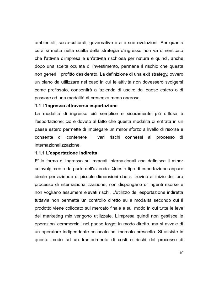 Anteprima della tesi: La competizione cinese: modalità di ingresso e strategie di crescita per le PMI italiane nel paese del dragone. Alcune esperienze del Made in Italy, Pagina 10