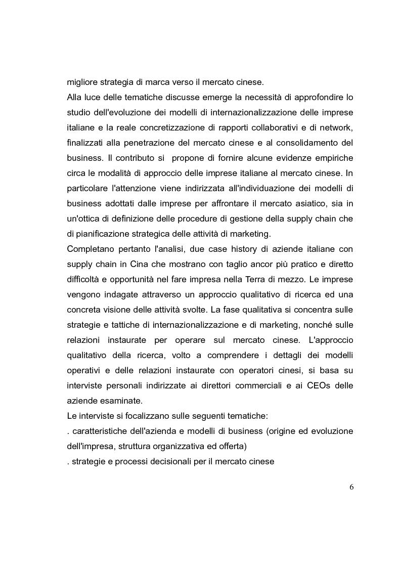 Anteprima della tesi: La competizione cinese: modalità di ingresso e strategie di crescita per le PMI italiane nel paese del dragone. Alcune esperienze del Made in Italy, Pagina 6