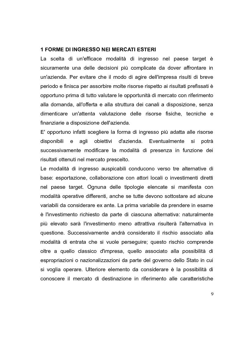 Anteprima della tesi: La competizione cinese: modalità di ingresso e strategie di crescita per le PMI italiane nel paese del dragone. Alcune esperienze del Made in Italy, Pagina 9