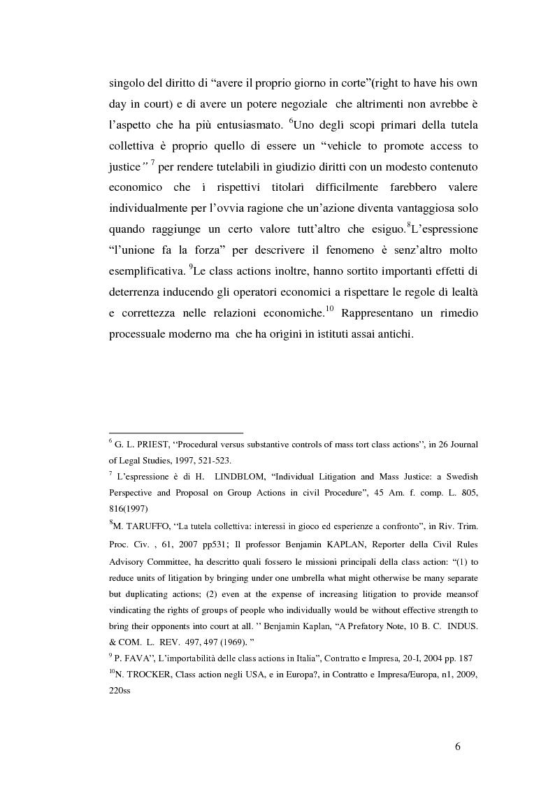 Anteprima della tesi: L'azione collettiva risarcitoria e restitutoria: profili comparatistici, Pagina 3