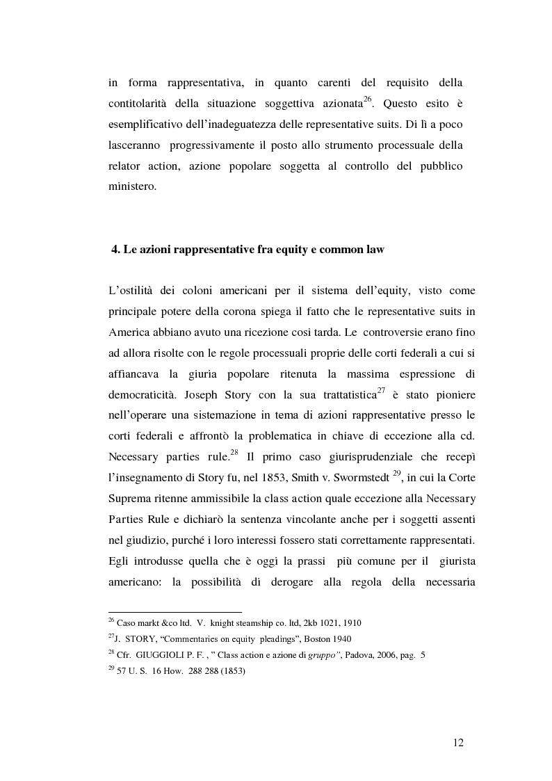 Anteprima della tesi: L'azione collettiva risarcitoria e restitutoria: profili comparatistici, Pagina 9