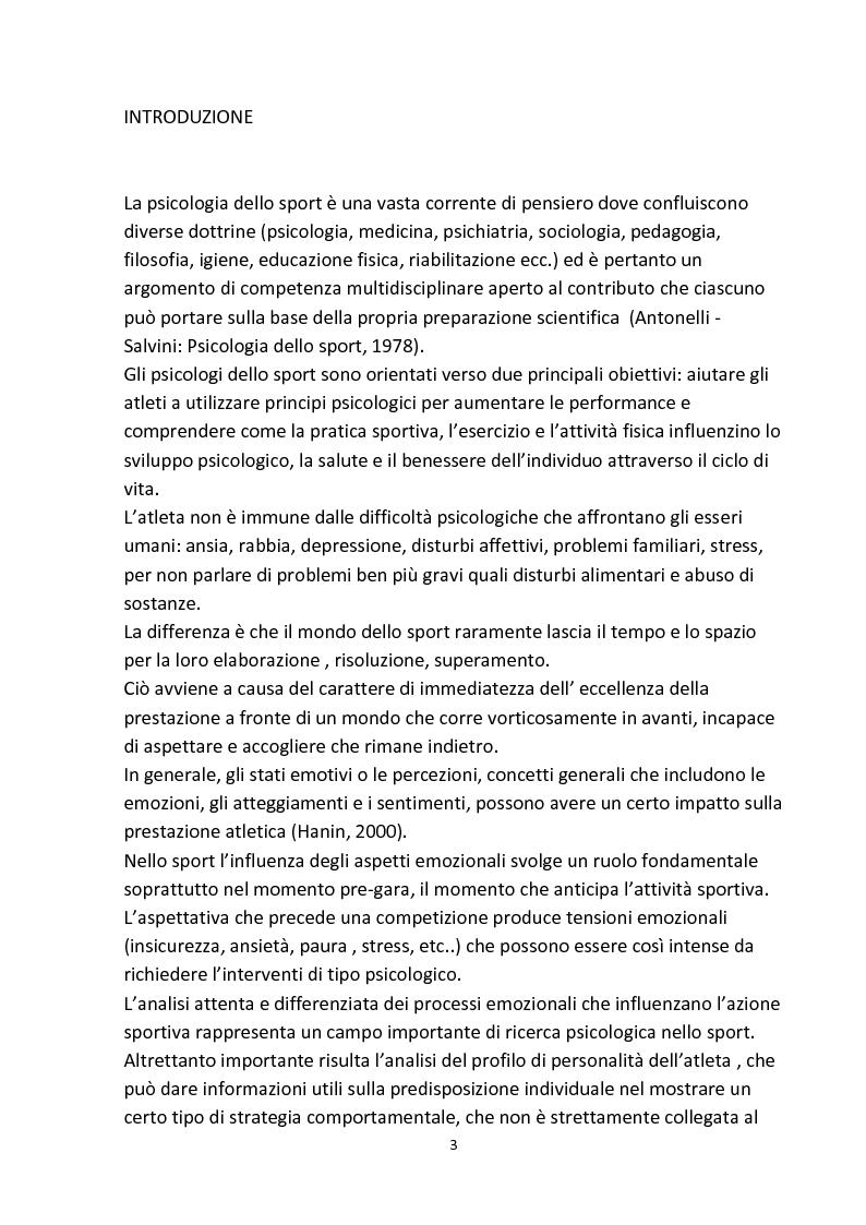 Anteprima della tesi: Personalità e aggressività nella prestazione sportiva: uno studio sperimentale, Pagina 2