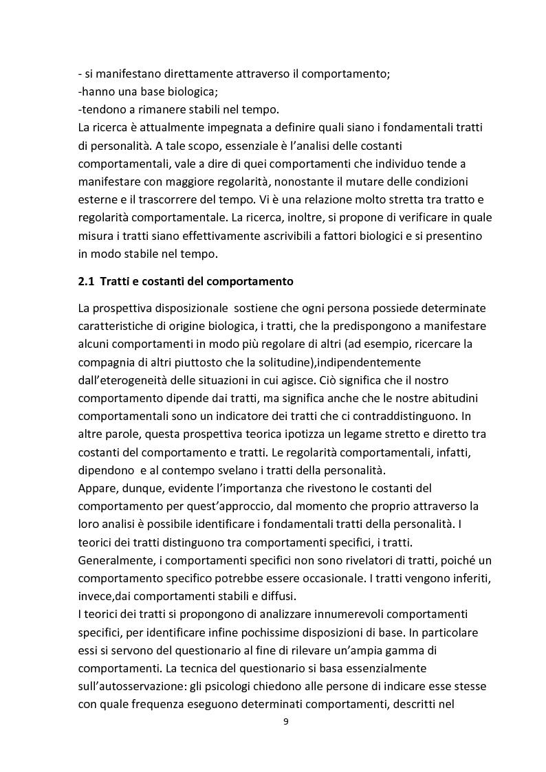 Anteprima della tesi: Personalità e aggressività nella prestazione sportiva: uno studio sperimentale, Pagina 8