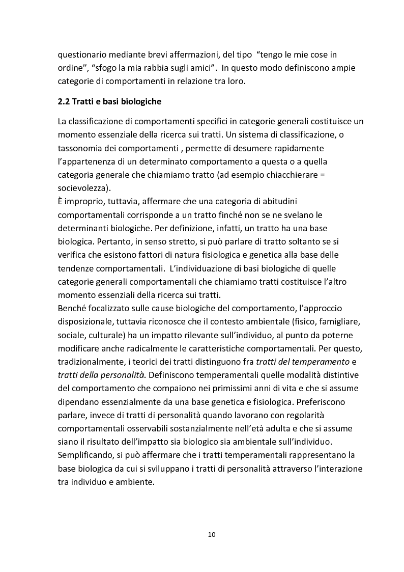 Anteprima della tesi: Personalità e aggressività nella prestazione sportiva: uno studio sperimentale, Pagina 9