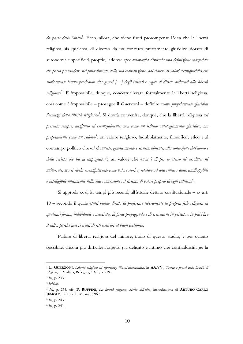 Anteprima della tesi: La libertà religiosa del minore, Pagina 3