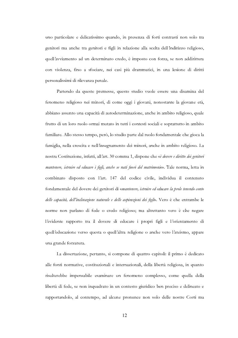 Anteprima della tesi: La libertà religiosa del minore, Pagina 5