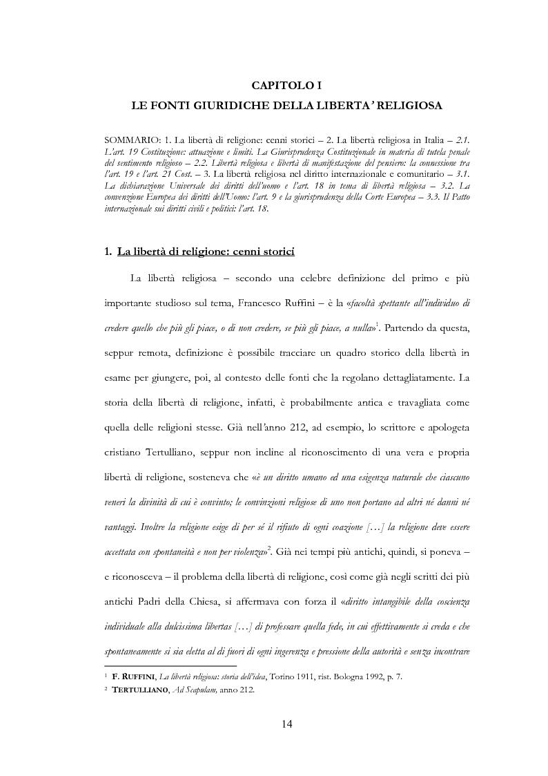 Anteprima della tesi: La libertà religiosa del minore, Pagina 7