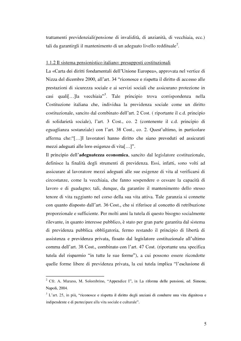 Anteprima della tesi: I Fondi Pensione: profili legislativi e prospettive di mercato, Pagina 6