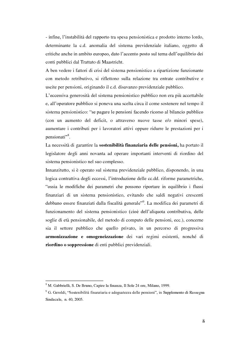 Anteprima della tesi: I Fondi Pensione: profili legislativi e prospettive di mercato, Pagina 9