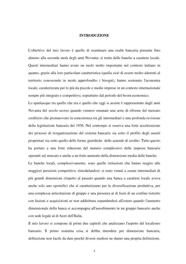 Anteprima della tesi: La riconfigurazione di una banca locale in una banca globale: il caso di Banca Popolare Friuladria, Pagina 2