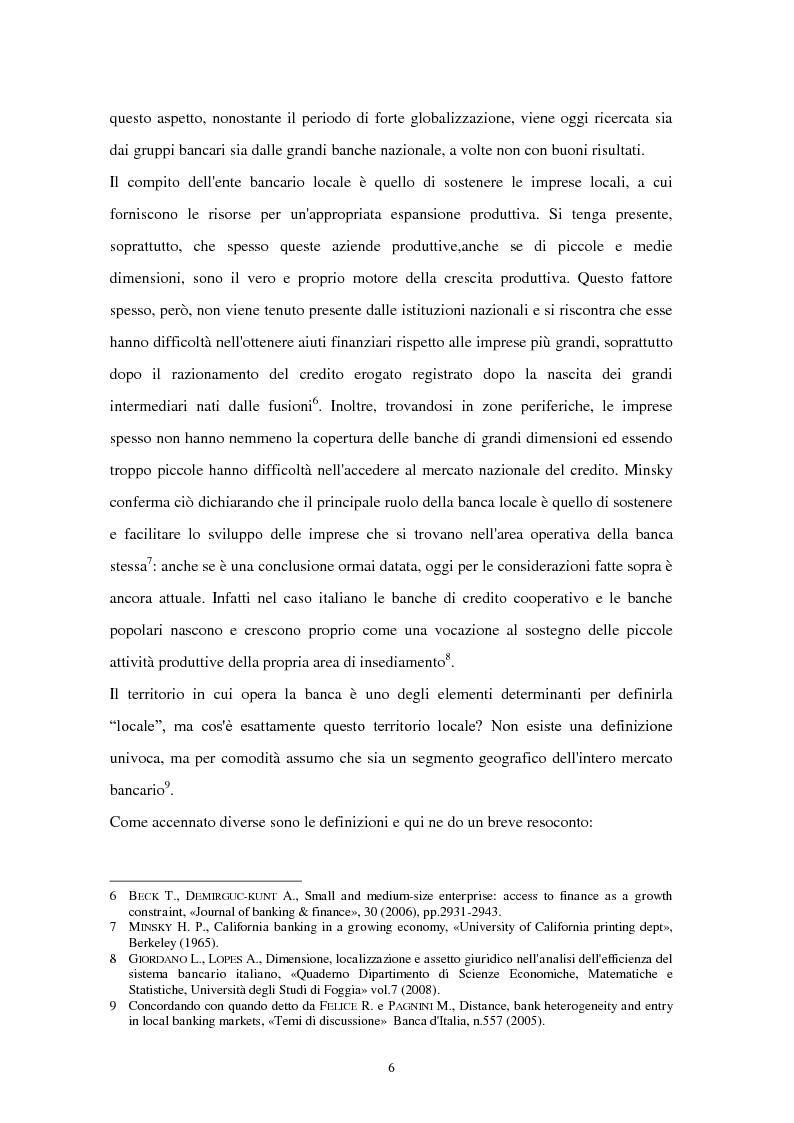 Anteprima della tesi: La riconfigurazione di una banca locale in una banca globale: il caso di Banca Popolare Friuladria, Pagina 5