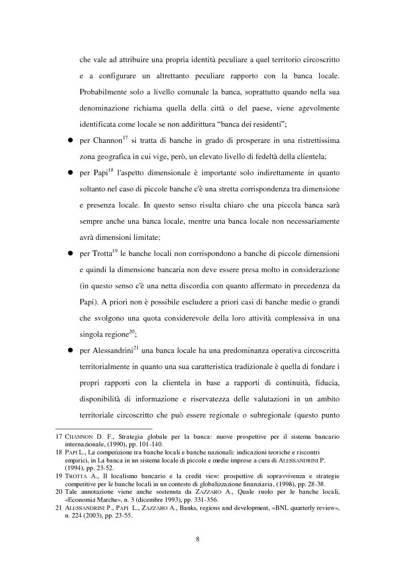 Anteprima della tesi: La riconfigurazione di una banca locale in una banca globale: il caso di Banca Popolare Friuladria, Pagina 7