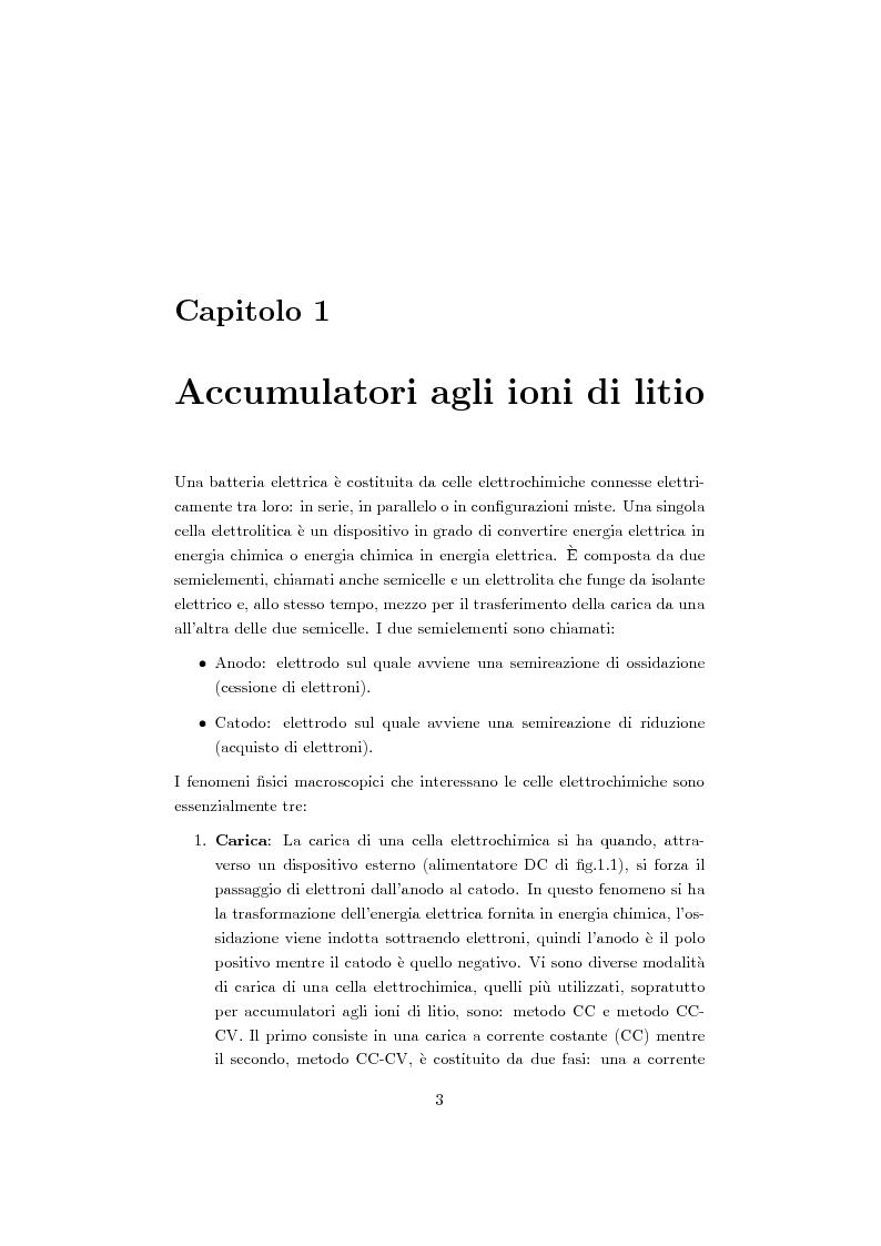 Anteprima della tesi: Studio, progetto e realizzazione di un sistema multicanale per caratterizzazione di celle agli ioni di litio, Pagina 4