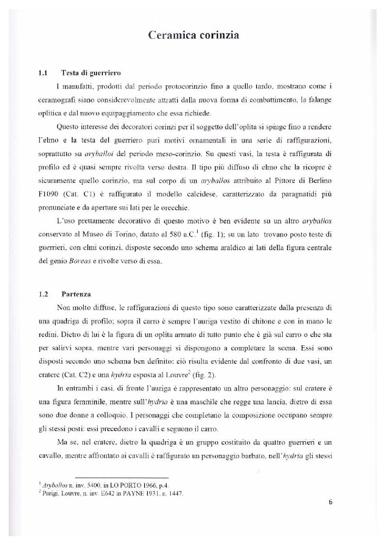 Anteprima della tesi: Scene con guerrieri nella ceramografia corinzia ed attica di età arcaica, Pagina 5