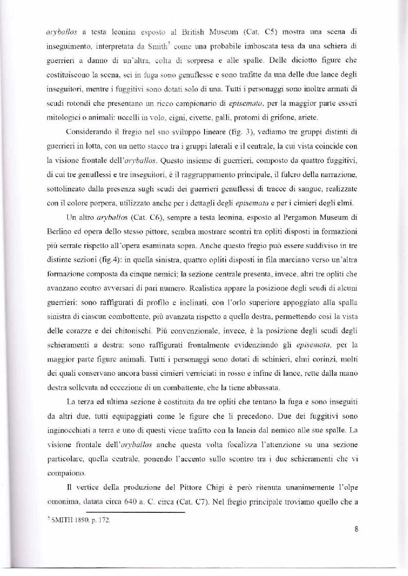 Anteprima della tesi: Scene con guerrieri nella ceramografia corinzia ed attica di età arcaica, Pagina 7