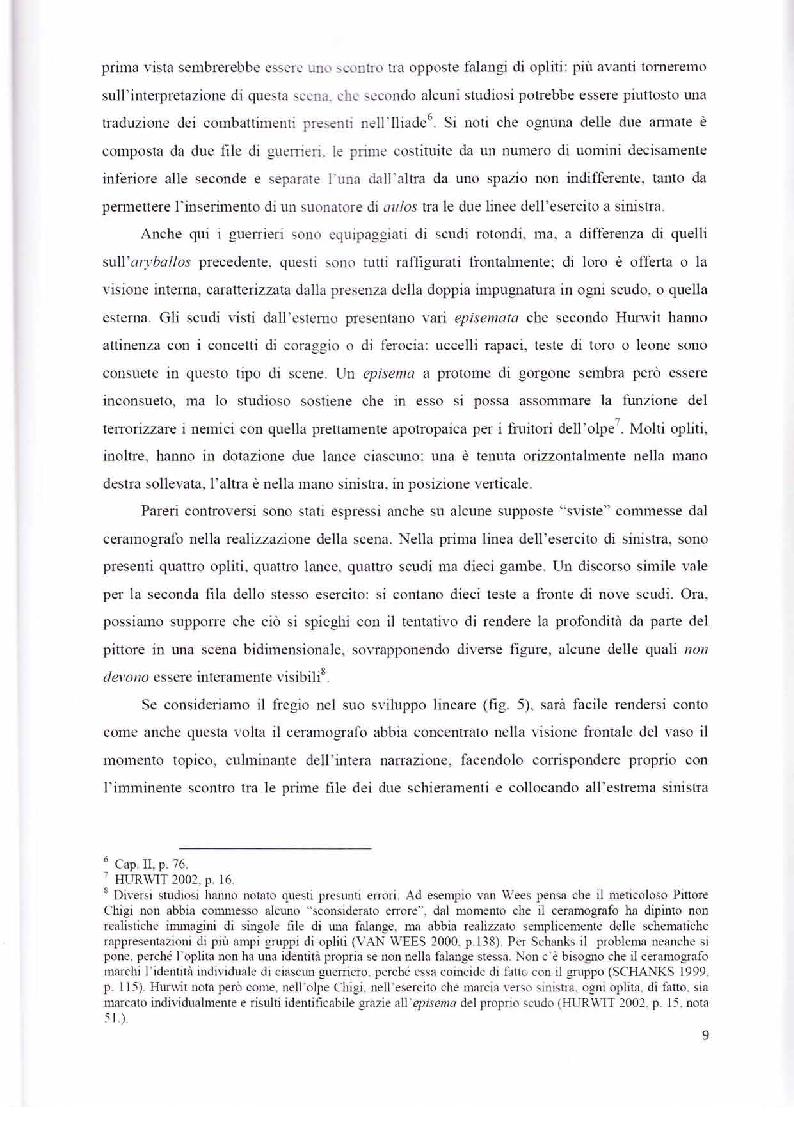 Anteprima della tesi: Scene con guerrieri nella ceramografia corinzia ed attica di età arcaica, Pagina 8