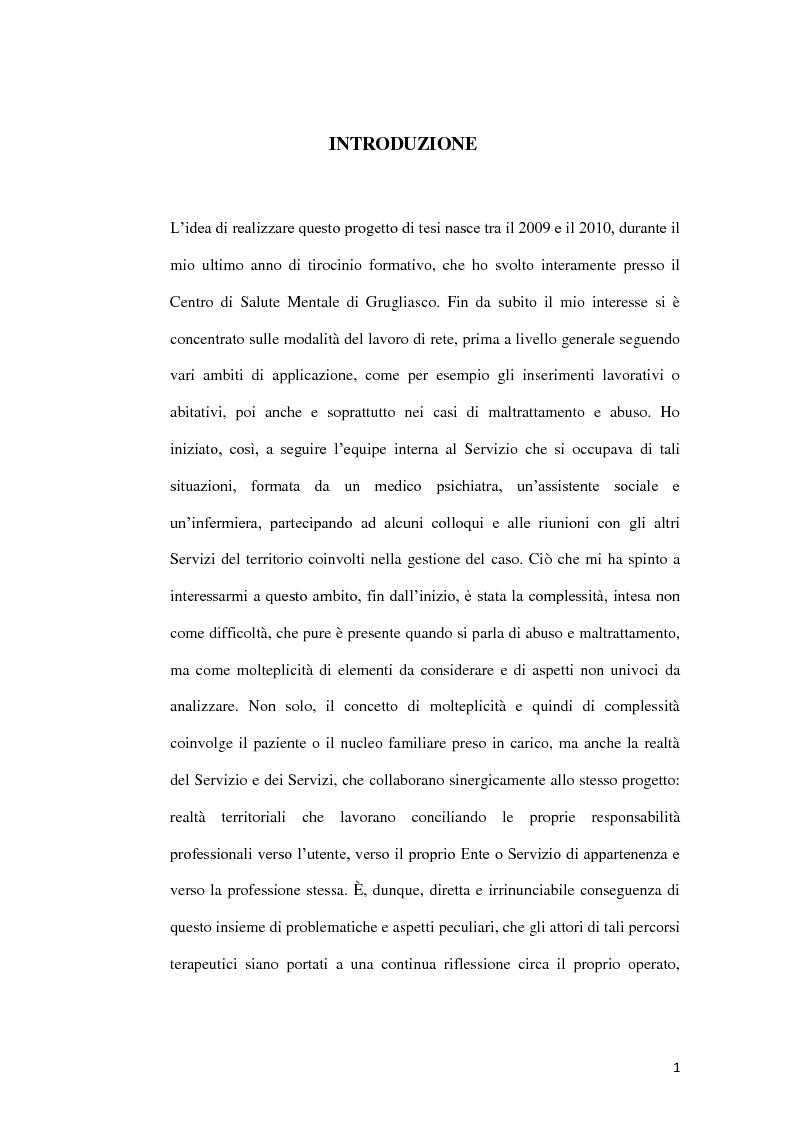Anteprima della tesi: Abuso, maltrattamento e genitorialità a rischio: studio sul lavoro di rete a livello territoriale, Pagina 2