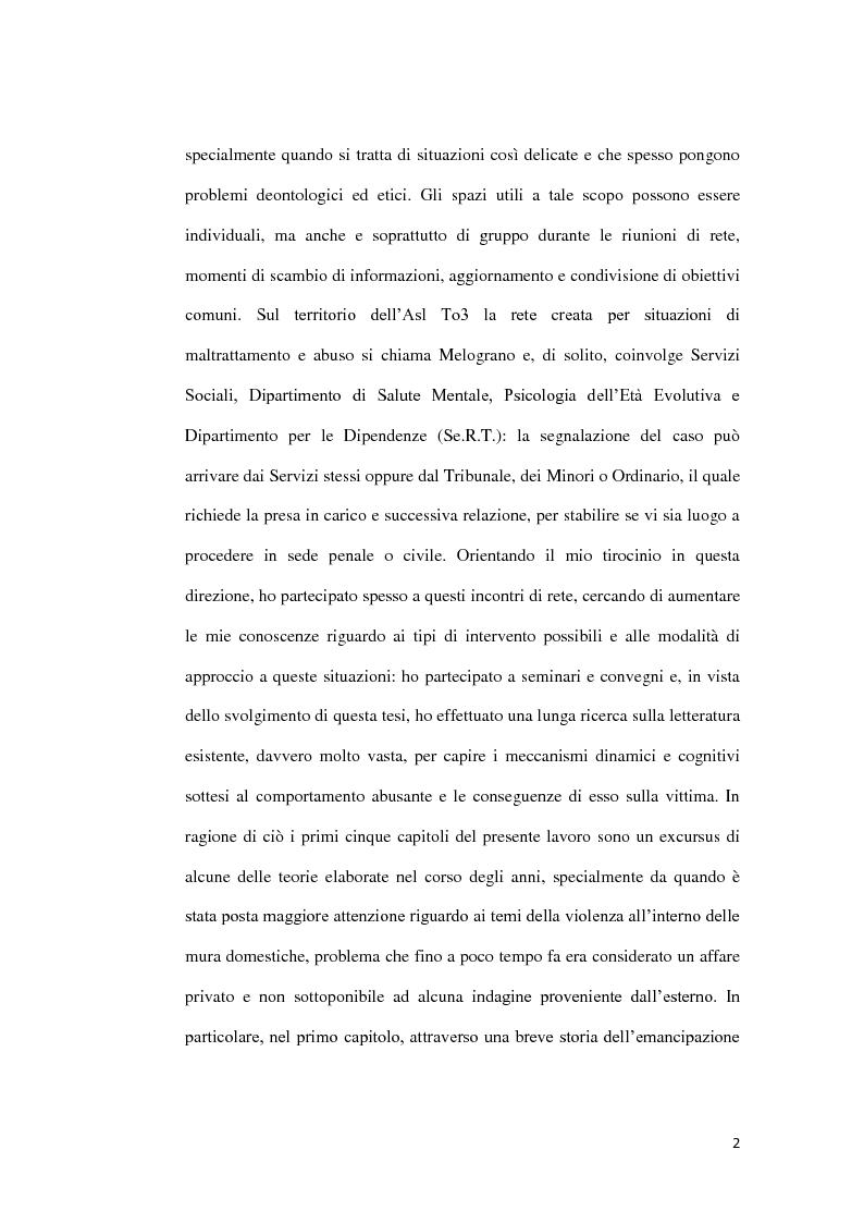 Anteprima della tesi: Abuso, maltrattamento e genitorialità a rischio: studio sul lavoro di rete a livello territoriale, Pagina 3