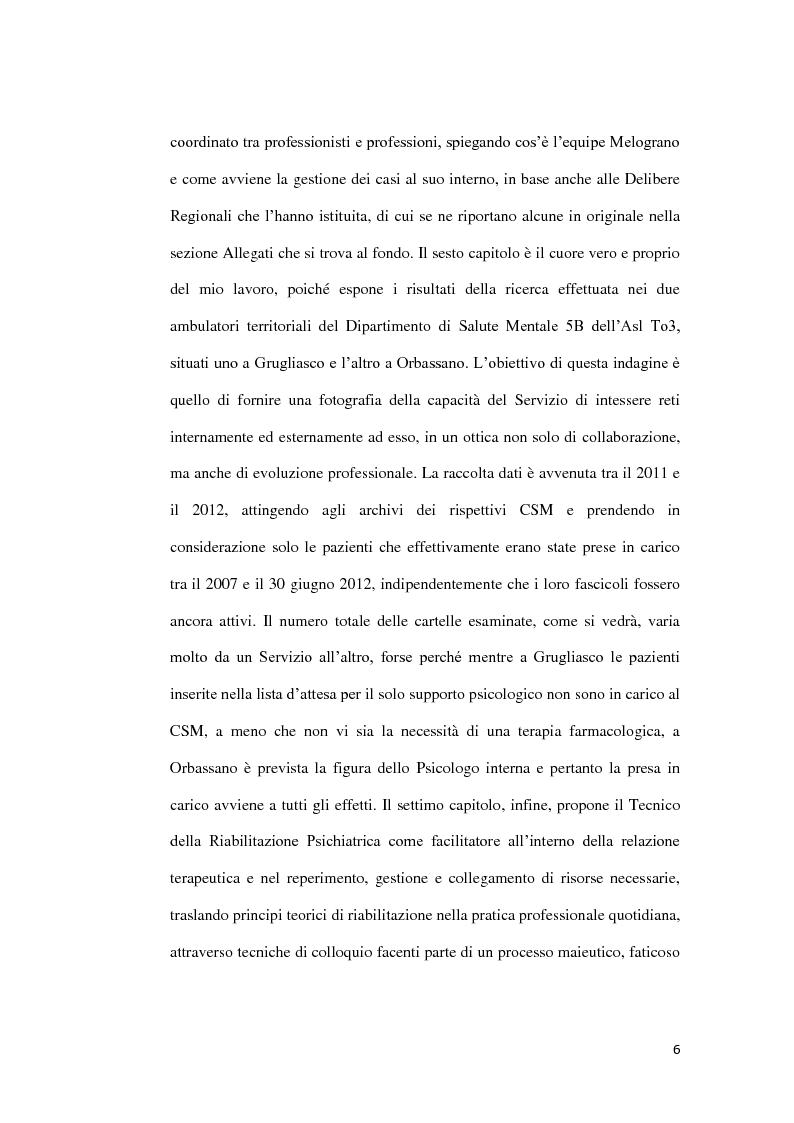 Anteprima della tesi: Abuso, maltrattamento e genitorialità a rischio: studio sul lavoro di rete a livello territoriale, Pagina 7