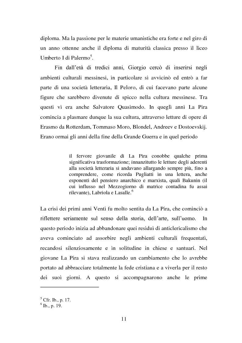 Anteprima della tesi: La visione della persona umana nel pensiero di Giorgio La Pira, Pagina 10