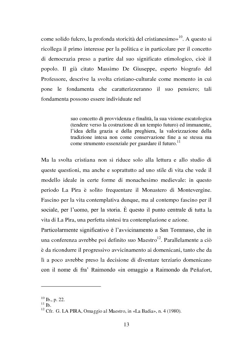 Anteprima della tesi: La visione della persona umana nel pensiero di Giorgio La Pira, Pagina 12
