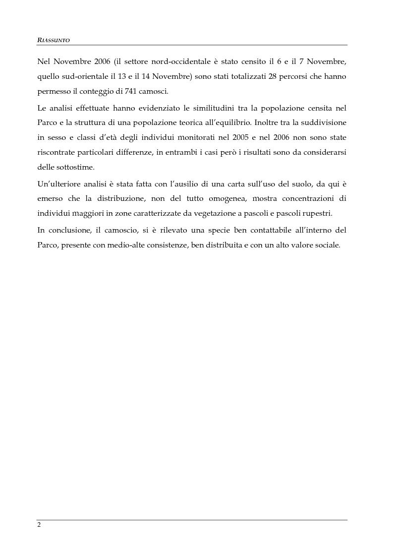 Anteprima della tesi: Monitoraggio della popolazione di Camoscio delle Alpi (Rupicapra rupicapra rupicapra) nel parco nazionale della Val Grande, Pagina 3