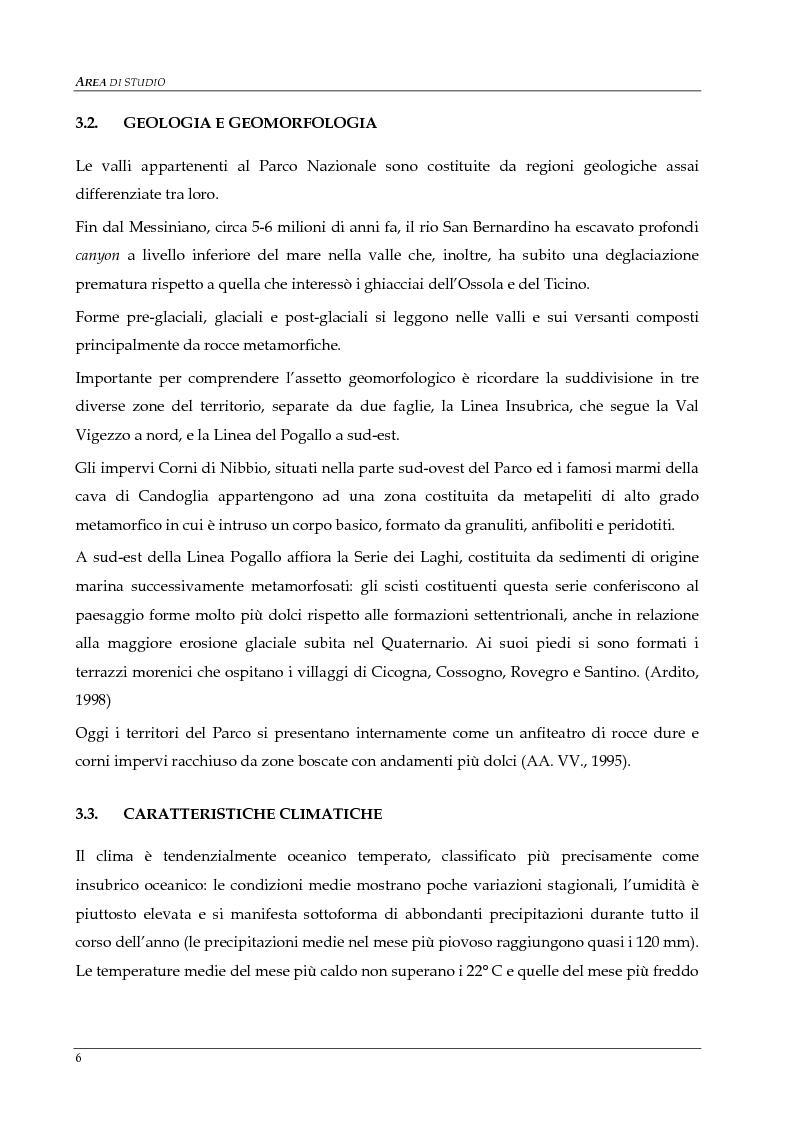 Anteprima della tesi: Monitoraggio della popolazione di Camoscio delle Alpi (Rupicapra rupicapra rupicapra) nel parco nazionale della Val Grande, Pagina 6