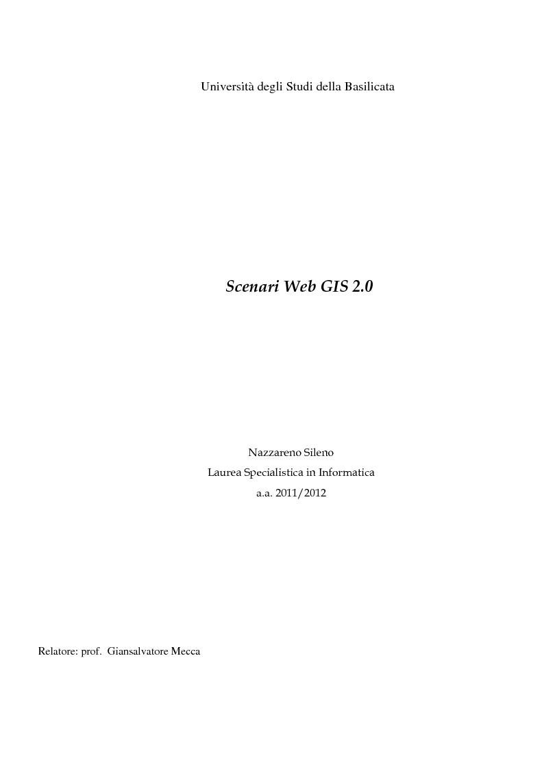 Anteprima della tesi: Scenari web GIS 2.0, Pagina 1