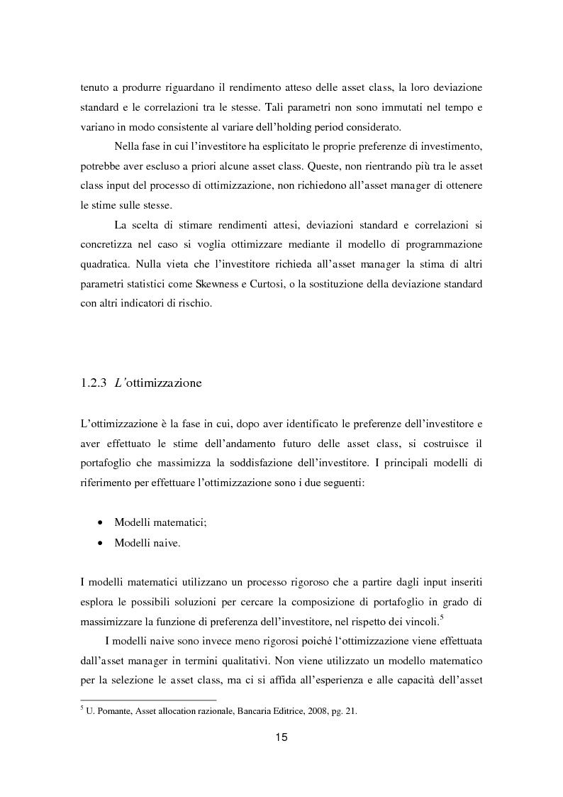 Anteprima della tesi: Putting Markowitz Theory at Work, Pagina 10
