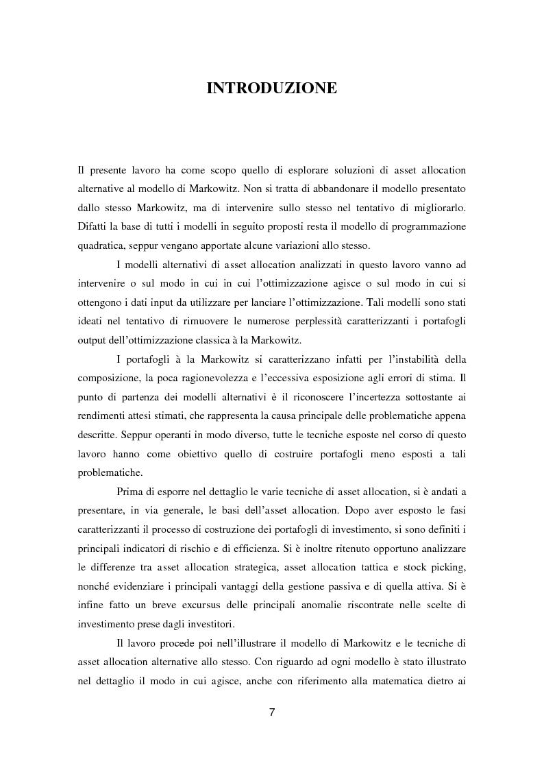Anteprima della tesi: Putting Markowitz Theory at Work, Pagina 2