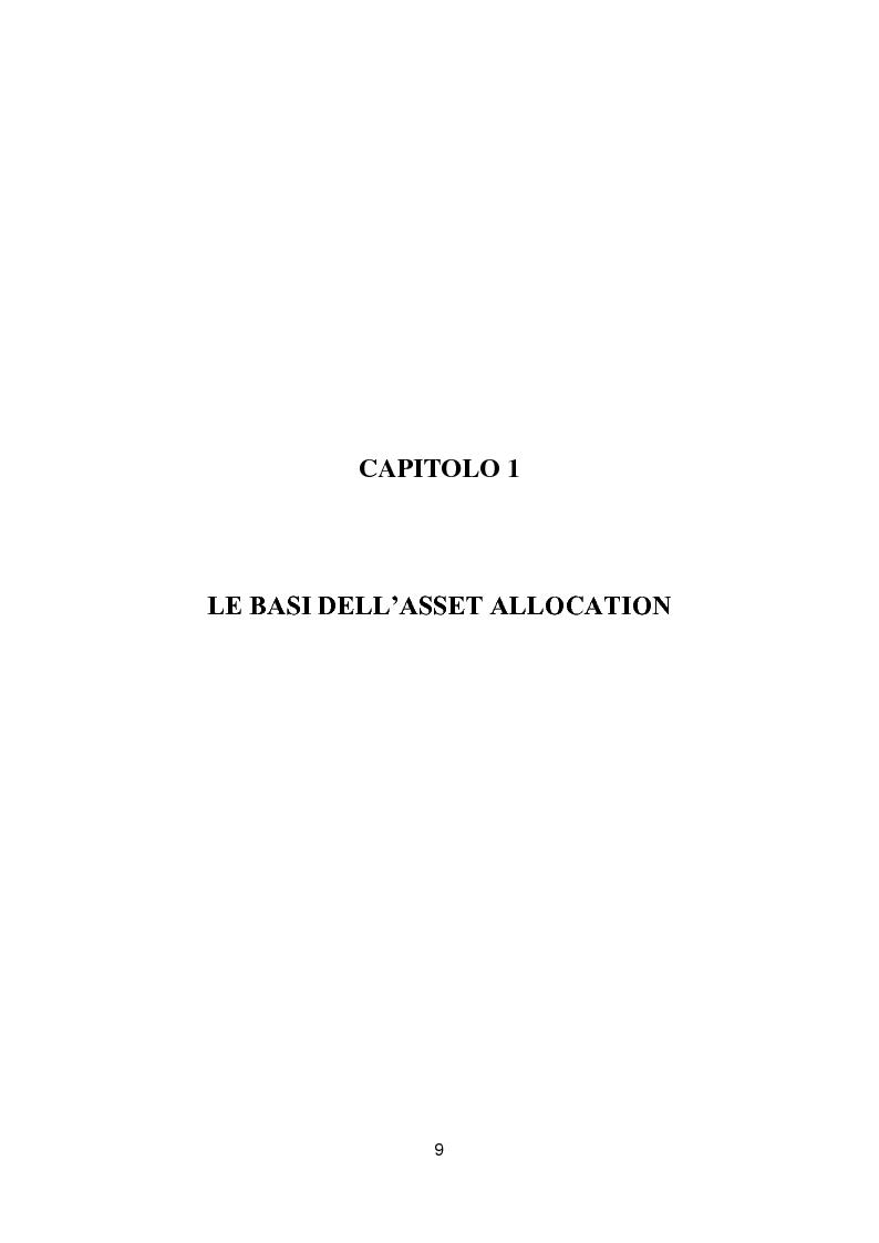 Anteprima della tesi: Putting Markowitz Theory at Work, Pagina 4