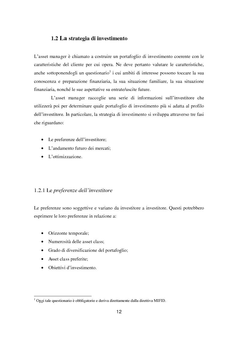 Anteprima della tesi: Putting Markowitz Theory at Work, Pagina 7