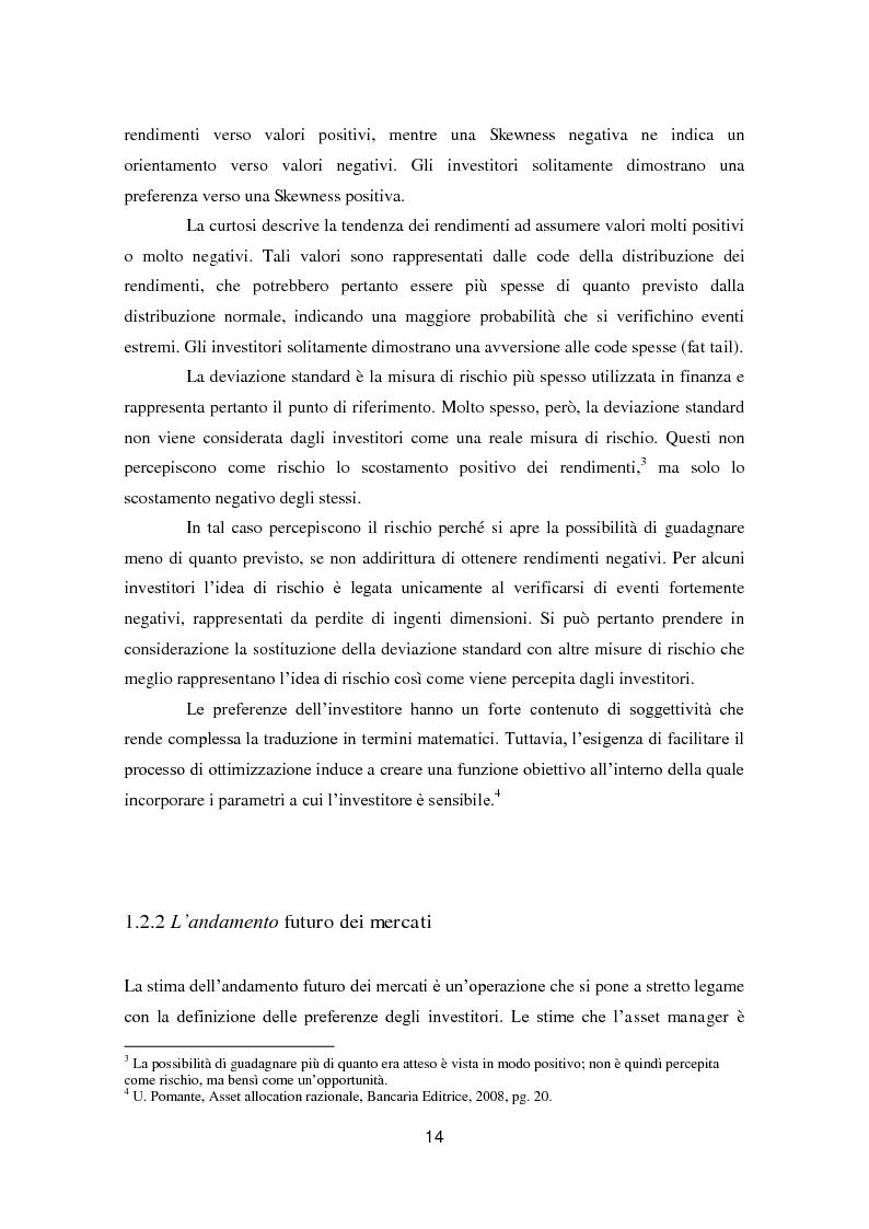Anteprima della tesi: Putting Markowitz Theory at Work, Pagina 9