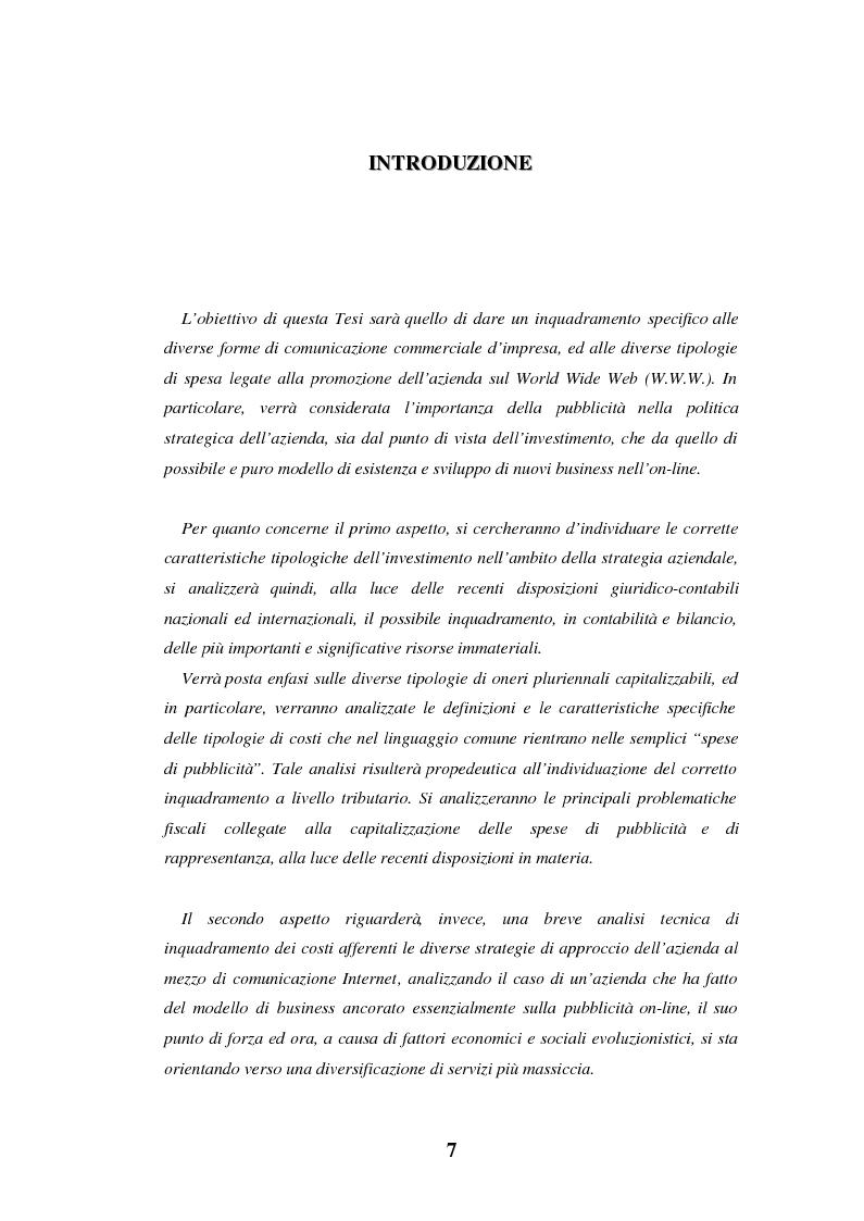 Anteprima della tesi: Le spese di pubblicità nel capitale di funzionamento. Rilevanza nel bilancio delle società in Internet. Il caso Yahoo!Inc., Pagina 1