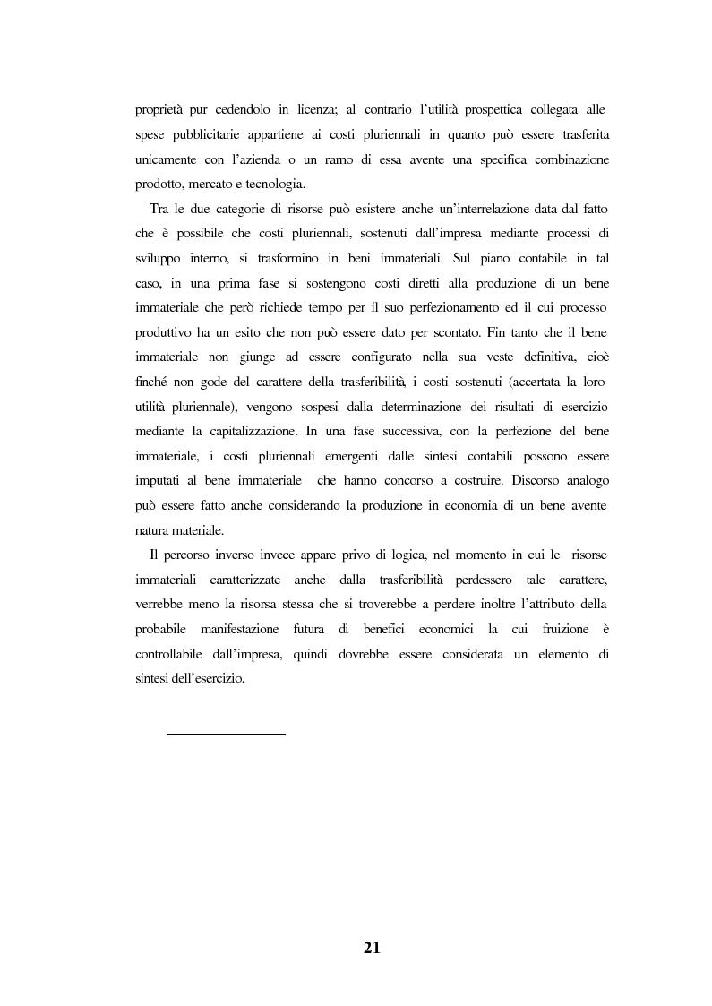 Anteprima della tesi: Le spese di pubblicità nel capitale di funzionamento. Rilevanza nel bilancio delle società in Internet. Il caso Yahoo!Inc., Pagina 15