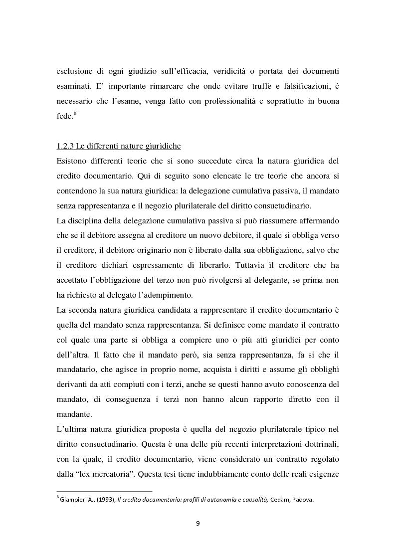 Anteprima della tesi: Compravendita internazionale di merci: il credito documentario e la polizza di carico, Pagina 10