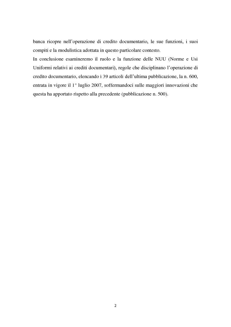 Anteprima della tesi: Compravendita internazionale di merci: il credito documentario e la polizza di carico, Pagina 3