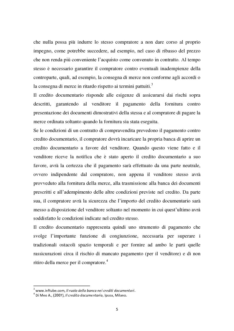 Anteprima della tesi: Compravendita internazionale di merci: il credito documentario e la polizza di carico, Pagina 6