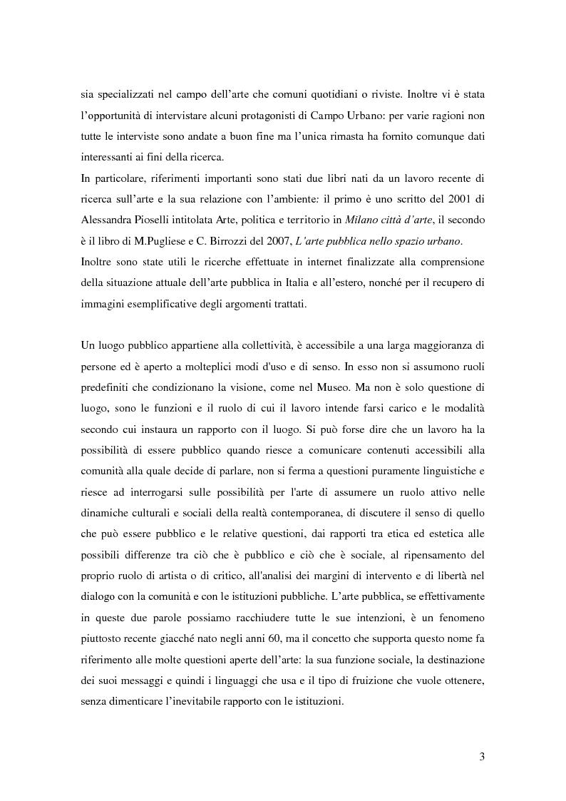 Anteprima della tesi: Arte pubblica, intorno a Campo Urbano, Pagina 3